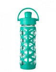 Butelka szklana active cap 475 ml Lifefactory aquatic green