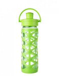 Butelka szklana active cap 475 ml Lifefactory lime