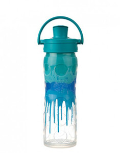 Butelka szklana active cap 475 ml Lifefactory blue splash